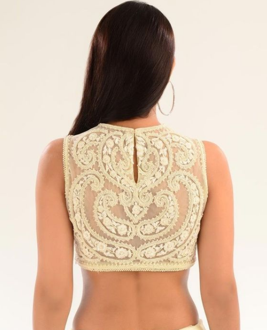 Embroidery Blouse Back Neck Designs